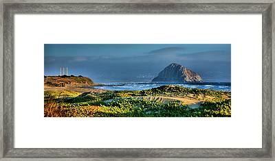 Morro Rock And Beach Framed Print by Steven Ainsworth