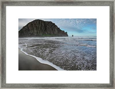 Morro Rock Landscape Framed Print