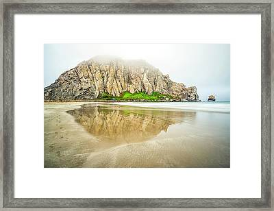 Morro Rock Reflection Framed Print by Joseph S Giacalone