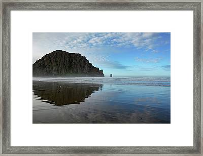 Morro Rock Reflection Framed Print
