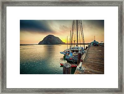 Morro Rock Sunset Framed Print