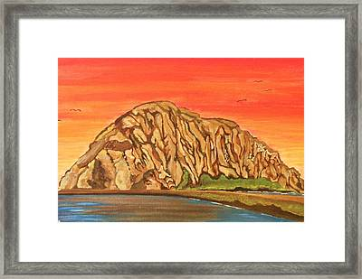 Morro Rock Framed Print