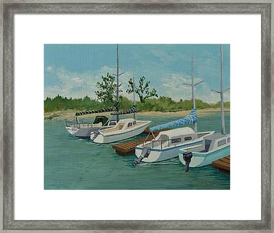 Framed Print featuring the painting Morro Bay State Park Ca by Katherine Young-Beck
