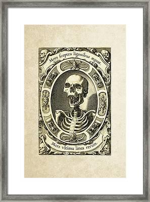 Mors Ultima Linea Rerum - Egbert Van Panderen Engraving  Framed Print by Serge Averbukh