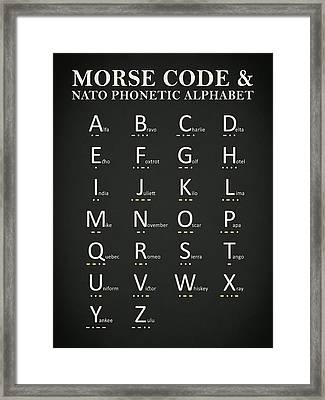Morse Code And Phonetic Alphabet Framed Print