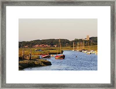 Morston Creek Framed Print by Liz Pinchen