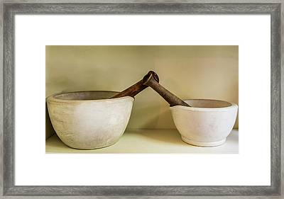 Framed Print featuring the photograph Mortar And Pestle by Paul Freidlund