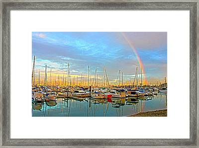 Morton Bay Rainbow Framed Print by Susan Vineyard