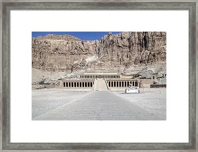 Mortuary Temple Of Hatshepsut - Egypt Framed Print by Joana Kruse