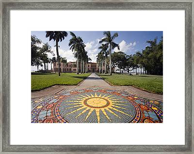 Mosaic At The Ca D Framed Print by Mal Bray