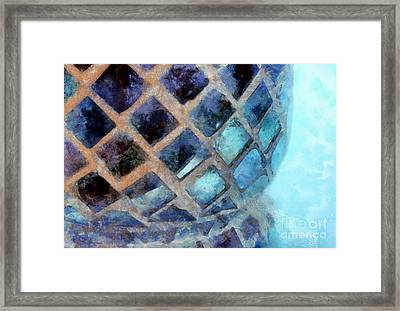 Mosaic Blues Framed Print by Krissy Katsimbras