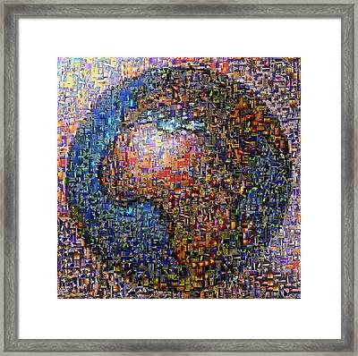 Mosaic Earth 2 Framed Print by Yury Malkov