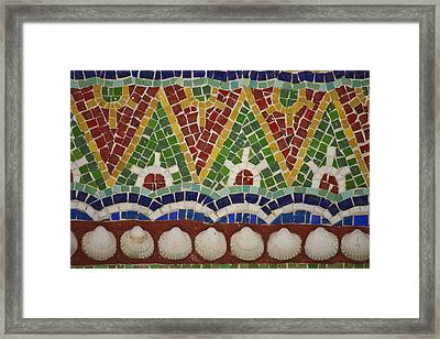 Mosaic Fountain Pattern Detail 4 Framed Print