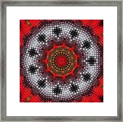Mosaic Kaleidoscope 2 Framed Print by Shawna Rowe