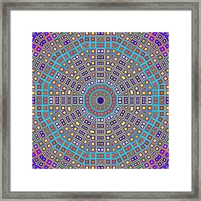 Mosaic Kaleidoscope  Framed Print by Shawna Rowe
