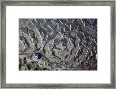 Mosaic Ocean Swirls Framed Print