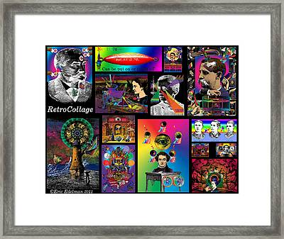 Mosaic Of Retrocollage I Framed Print by Eric Edelman
