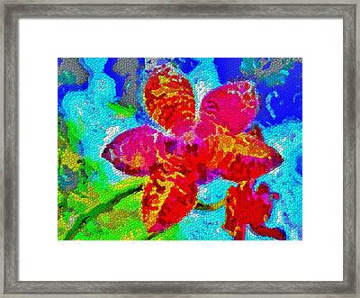 Mosaic Orchid Framed Print