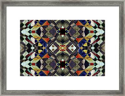 Mosaic Patterns Framed Print by Jolanta Anna Karolska