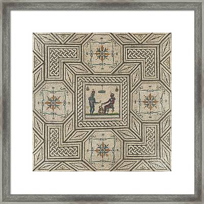 Mosaic Pavement With Egyptianizing Scene Framed Print