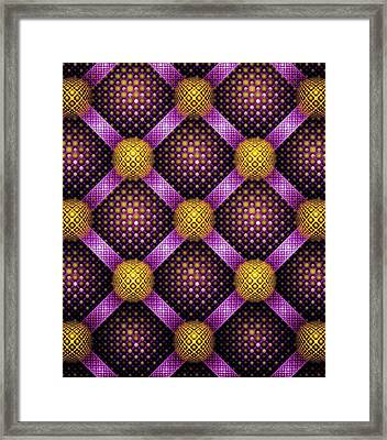 Mosaic - Purple And Yellow Framed Print