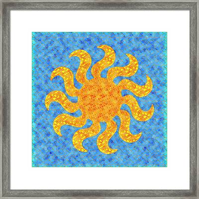 Mosaic Stained-glass Of The Sun Framed Print