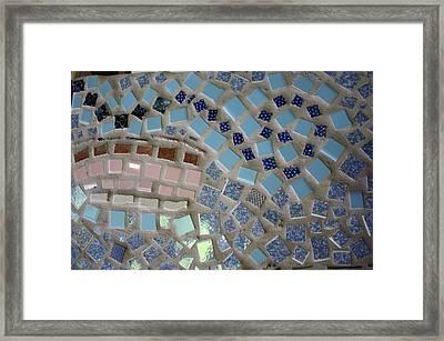 Mosaic Sunset Sky Swirl Framed Print