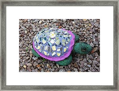 Mosaic Turtle Framed Print by Jamie Frier