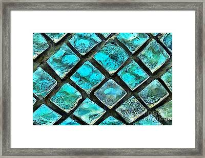 Mosaic Windows Framed Print by Krissy Katsimbras