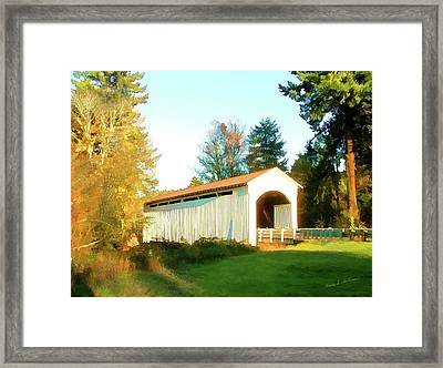 Mosby Creek Covered Bridge Framed Print