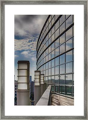 Framed Print featuring the photograph Moscone West Balcony by Darcy Michaelchuk