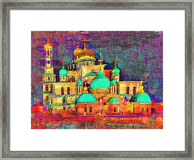 Moscow Church At Night Framed Print by Yury Malkov