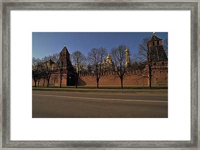 Framed Print featuring the photograph Moscow Kremlin In Winter by Travel Pics