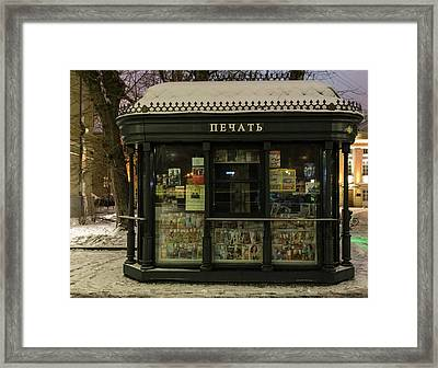 Moscow Newsstand Framed Print