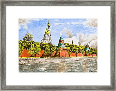 Moscow River Framed Print by Svetlana Sewell