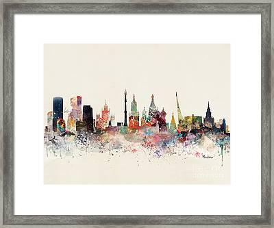 Moscow Russia Skyline Framed Print