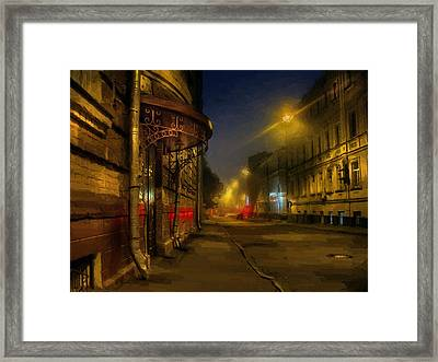Framed Print featuring the photograph Moscow Steampunk Sketch by Alexey Kljatov