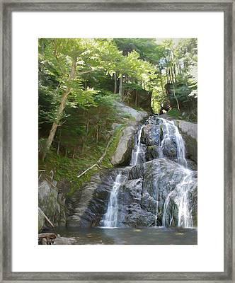 Mose Glenn Falls Granville Vt. Framed Print