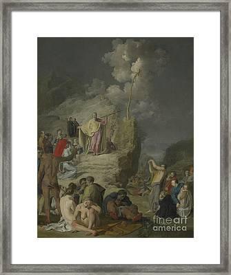 Moses And The Brazen Serpent Framed Print by Pieter Fransz de Grebber