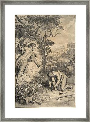 Moses And The Burning Bush Framed Print