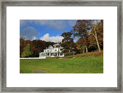 Moses Cone Flat Top Manor Framed Print