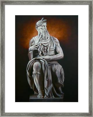 Moses Framed Print by Grant Kosh