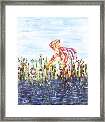 Moses In The Rushes Framed Print