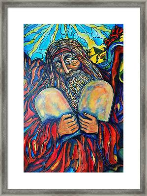 Framed Print featuring the painting Moses by Rae Chichilnitsky