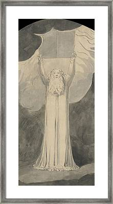 Moses Receiving The Law  Framed Print by William Blake