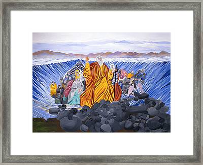 Framed Print featuring the painting Moses by Sima Amid Wewetzer
