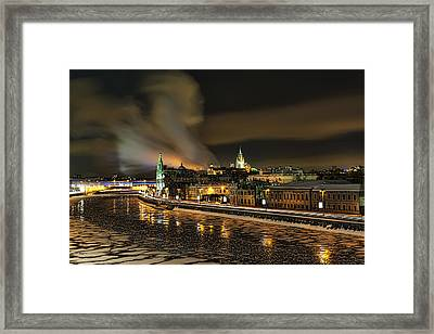 Framed Print featuring the photograph Moskva River by Gouzel -