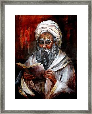 Moslem Man With Koran Framed Print
