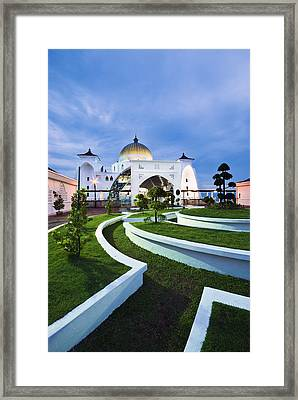 Mosque In Malaysia Framed Print by Ng Hock How