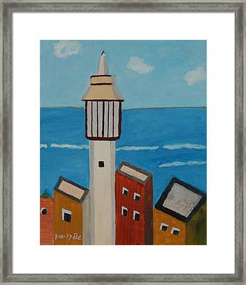 Mosque Seen From Jaffa Restaurant   Framed Print by Harris Gulko